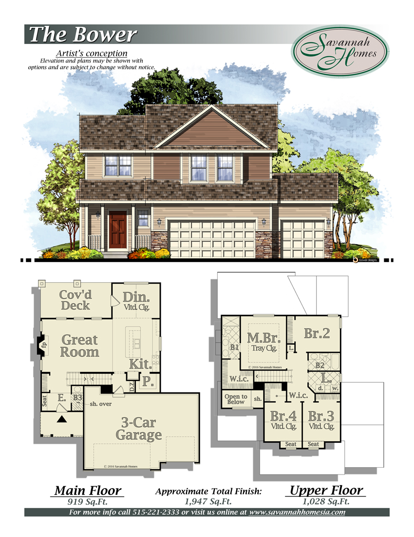 Savannah homes neighborhoods floorplans for Iowa home builders floor plans