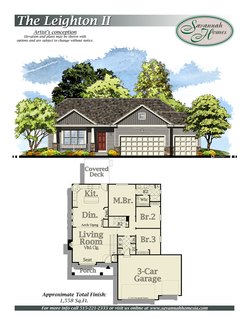 Savannah homes neighborhoods floorplans for Design homes iowa