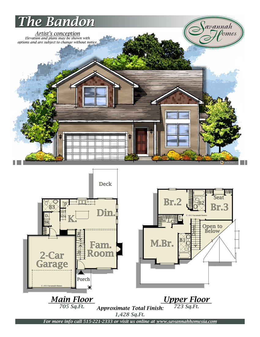 Bandon floorplans savannah homes iowa home builder for Design homes iowa